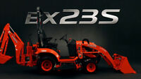 Kubota BX23S backhoe for rent or hire