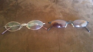 2 Pair Eyeglasses Frames-small lenses
