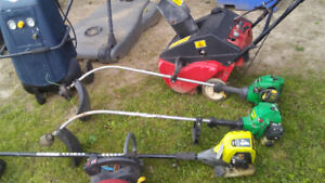 Edge trimmer, compressor and snow blower