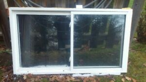 66.5 x37.5  vinyl clad  sliding window.