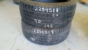 Pair of 2 Michelin Pilot Sport AS3 225/45R18 tires (65% tread li