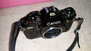 Canon A1 SLR Camera and lenses