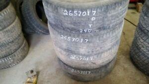 Set of 4 Goodyear Wrangler 265/70R17 tires (50% tread life)