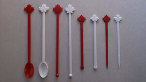 """New Red & White """"Maple Leaf"""" logo'd Disposables"""