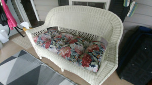Wicker Cushions Set - Retro Floral, High Quality