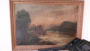 Peinture tres ancienne, very old painting