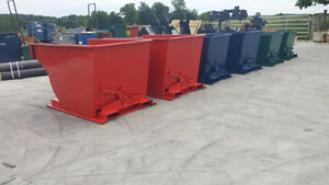 scrap tip bins self dumping hopper bin fork lift box