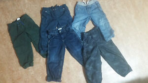 Lined pants 5 pairs sz 3