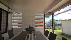 White Aluminium Plantation Shutters made to order and Installed