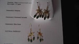 EMERALD 14 KT GOLD Earrings