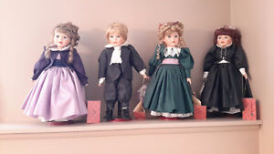 4 CATHERINE KARNES MUNN COLLECTIBLE DOLLS - 16 inch