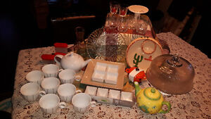 Cake stand,dishes,crystal,etc...