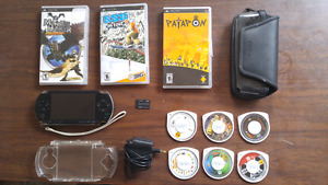 Psp-1001 with 9 games and accessories in pic