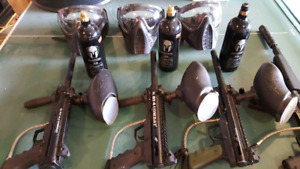 Paintball gear guns  bt 4 combats package
