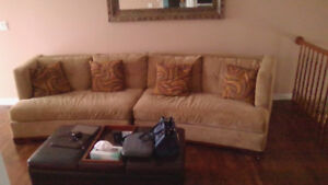 Large Curved 2 Piece Couch