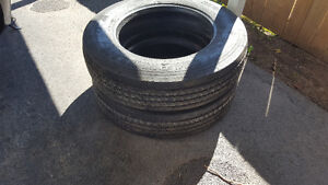 2 MICHELIN XRV TIRES 255/80/R22.5 USED