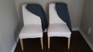 Two Ikea dining chairs, ONE SOLD ONE STILL AVAILABLE