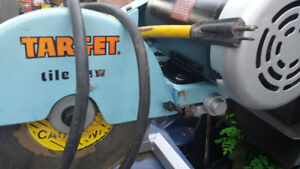 target tile saw  120/240 volts  industrial