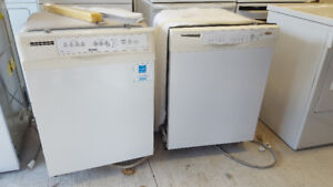 2 white built in dishwashers 60.00 each. Delivery available