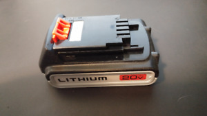 Black and Decker LBXR 20V Max Lithium Battery and Charger