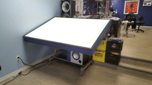 Light Table great for tattoo, drawing, graphic art or drafting.