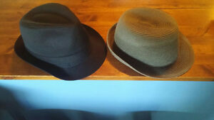 Fedora Hats - Black is new. Khaki is like new.