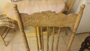 Pressed back chairs Antique
