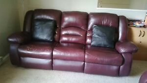 MOVING SALE: A SET OF RECLINER SOFA, LOVE SEAT, SINGLE CHAIR