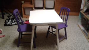 Small child's table and chair set