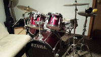 5 Piece Tama Rockstar Drumset with Double Pedal