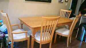 Dining table with drawer $125