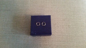 14KT Small round sleeper earrings.  Brand new. Never worn