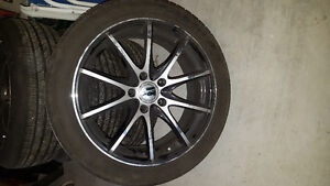 Rims with tires on