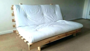 Used solid wood futon bed