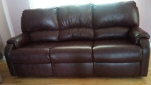 Sofa cuir 3 places