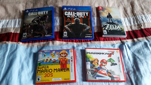 Selling 2 3ds games+ Breath of the Wild (Switch)+ 2 Ps4 games