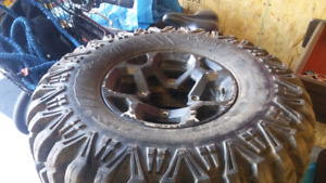 Atv Tires & Rims used twice