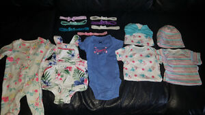 New born and 0-3 girls clothes