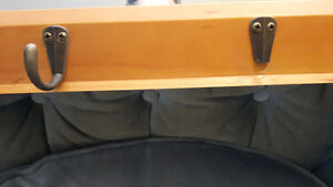LOVELY SOLID PINE WALL MOUNT COAT RACK / HAT RACK with MIRROR Cambridge Kitchener Area image 2