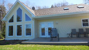 beautiful 2013 waterfront country home/cottage with pontoon boat