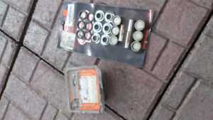 Various motorcycle parts for sale.