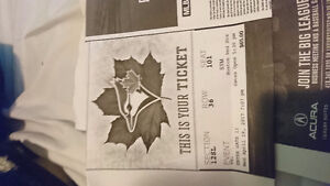 2 blue Jay's tickets for tonight's game