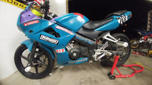 CBR125 AND DRZ125 BOTH TRACK READY FOR MINI ROAD RACING