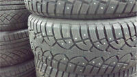 4 GENERAL ALTIMAX ARTIC 195 65 15 WINTER HIVER STUDED TIRES
