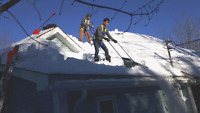 Rooftop SNOW REMOVAL. Call Trim & Joe for a free quote today!