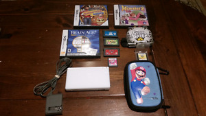 Nintendo DS with 8 games and case