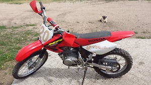 Young rider's Dirt Bike