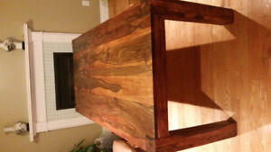Beautiful solid wood dinning table from Wicker emporium