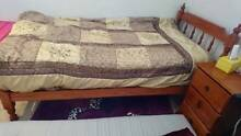 Wooden bed + bedside (mattress optional) North Brighton Holdfast Bay Preview