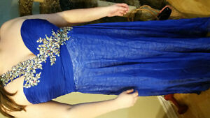 Blue prom dress. There's no other like it